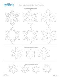 7 best images of elsa snowflake stencil printable frozen