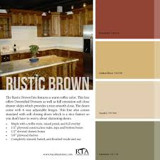 what color paint goes with brown cabinets color palette to go with our rustic brown kitchen cabinet