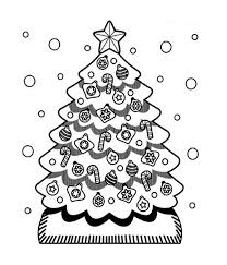 a cute christmas tree in snow coloring page download u0026 print