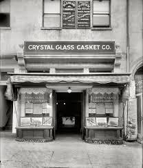 casket company glass casket 1920 shorpy photos