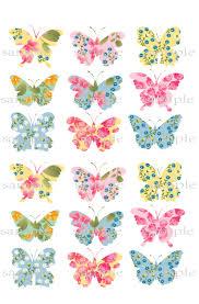 aliexpress com buy 18 big flower butterfly edible cake topper