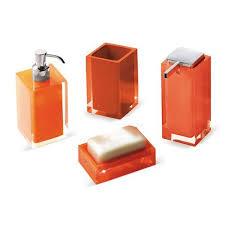 Red Bathroom Accessories Sets by Rainbow 4 Piece Bathroom Accessory Set By Nameek U0027s Yliving