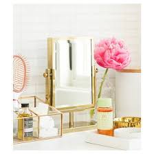 Gold Mirror Bathroom West Emory Two Sided Gold Vanity Mirror Target