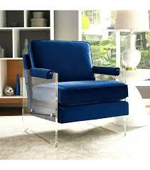 velvet chair and ottoman blue velvet accent chair floating blue velvet acrylic arm accent