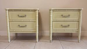Thomasville Bedroom Furniture 1980s Vintage Thomasville Hollywood Regency Faux Bamboo 1 Drawer
