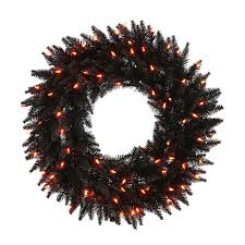 Halloween Wreath Shop Vickerman Pre Lit Douglas Fir Artificial Halloween Wreath