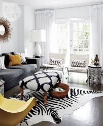 Zebra Side Table Zebra Cowhide Rug Contemporary Living Room Style At Home