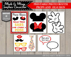 mickey mouse photo booth props instant girl and boy mouse printable photo booth props
