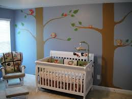Nursery Wall Decals For Baby Boy Baby Nursery Decor Magical Forest With Two Large Trees Baby Boy