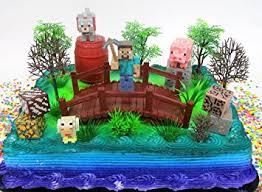 minecraft birthday cake ideas minecraft 14 birthday cake topper set featuring