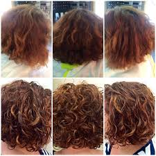 is deva cut hair uneven in back before after deva curl cut with caramelized colors totally want