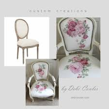 French Linen Armchair Custom Hand Painted French Linen Chair Debi Coules Romantic Art