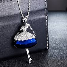 long chain locket necklace images Cute doll long chain pendant rhinestone necklaces raising them jpg