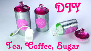 diy miniature tea bags coffee sugar u0026 canisters dollhouse
