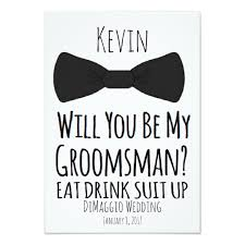 groomsmen invitations will you be my groomsman groomsmen wedding invite zazzle