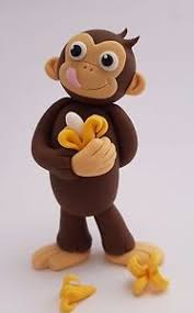 monkey cake topper edible 3d curious george cake topper cheeky monkey banana birthday