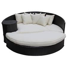 furniture taiji outdoor wicker patio daybed with ottoman