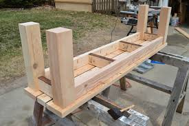 Simple Wooden Bench Design Plans by Kruse U0027s Workshop Simple Indoor Outdoor Rustic Bench Plan