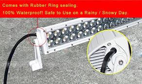 curved marine led light bar yitamotor curved 300w 52 inch combo work led light bar driving