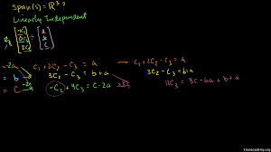 introduction to linear independence video khan academy
