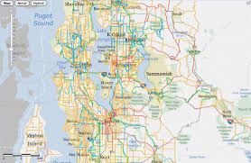 seattle map by county new king county bicycle map now seattle bike