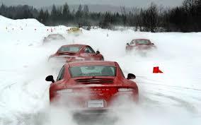 porsche 911 winter versus bite porsche winter driving experience motor trend