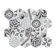 jeffrey court morris block 10 3 8 in x 12 in x 6 mm glass mosaic