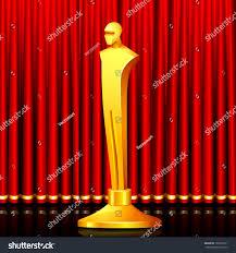 illustration gold award shape male statue stock vector 103356311