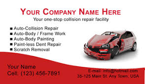 Organo Gold Business Cards Auto Body U0026 Collision Business Cards