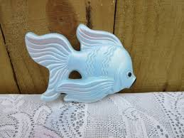 Fish Home Decor Vintage Chalkware Made By The Miller Studio Company Fish Small