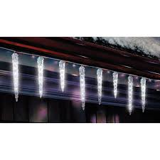 celebrations led dripping icicle light set cool white 9 ft 61
