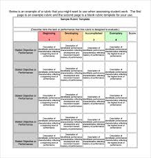 rubric maker template 28 images sle blank rubric 9 documents