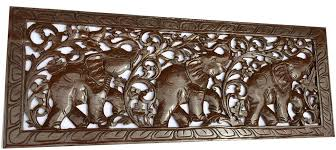 carved wood wall tropical home decor carved wood wall elephant wood carved