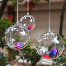 5pcs christmas tree decoration clear hanging ball gift candy