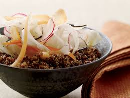 lemony quinoa salad with shaved vegetables recipe jeremy fox
