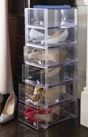 Sho Clear storage pf sho040 shoe boxes australia clear big w louboutin box uk