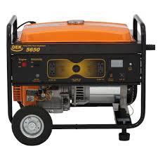 dek 7 345 watt commercial grade portable generator 5650 the home