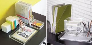 Acrylic Desk Accessories Design Ideas Acrylic Desk Accessories From Cb2 Maximize Your