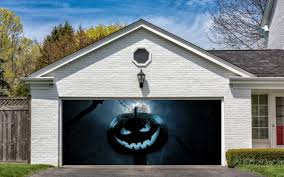 Halloween Decorations Usa by Halloween Garage Door Decor Halloween Wikii