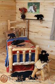Log Cabin Bedroom Furniture by Best 10 Log Bed Frame Ideas On Pinterest Log Bed Timber Bed