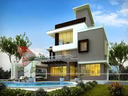 House Exterior Design India Bungalow Elevation D Building Rendering Bungalow Design India