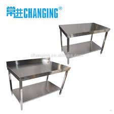 kitchen heavy duty metal work bench with 2 layers undershelf