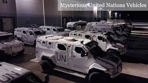 armored military vehicles u n armored vehicles are being stored under the same roof of a