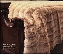 Faux Fur King Size Blanket Premium Faux Fur Bedspread Frosted Channel Mink Throw