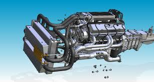 subaru engine turbo engine 3d model subaru ej22 ej20
