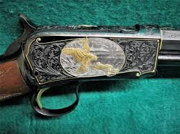 gold inlay engraving winchester repeating arms mod 1890 engraved w gold inlay by