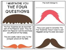 the four questions book passover companion for kids i mustache you the four questions tpt