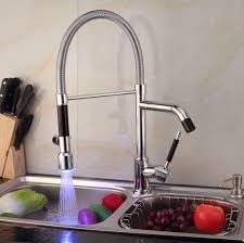 led kitchen faucets cheap 2015 led pull out kitchen mixer led color kitchen