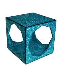 Turquoise Side Table Adler Toulouse Turquoise Cube Side Table
