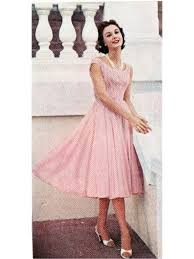 1955 resort wear fashions pale pink pink dresses and vintage